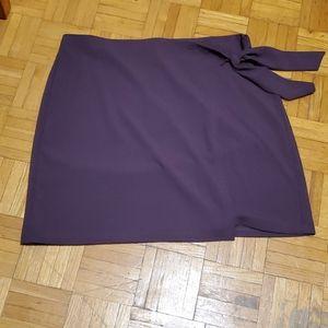 LOFT mini violet skirt